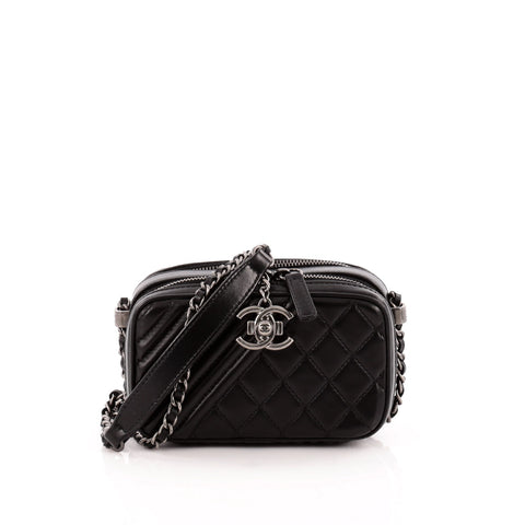Buy Chanel Coco Boy Camera Bag Quilted Leather Mini Black 1169901 – Rebag 82eeeab13a038