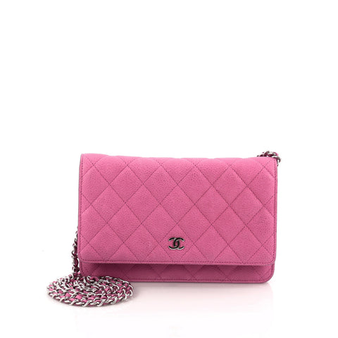 5edf872fedbd Buy Chanel Wallet on Chain Quilted Caviar Pink 1170301 – Rebag
