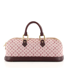 Louis Vuitton Alma Handbag Mini Lin Horizontal
