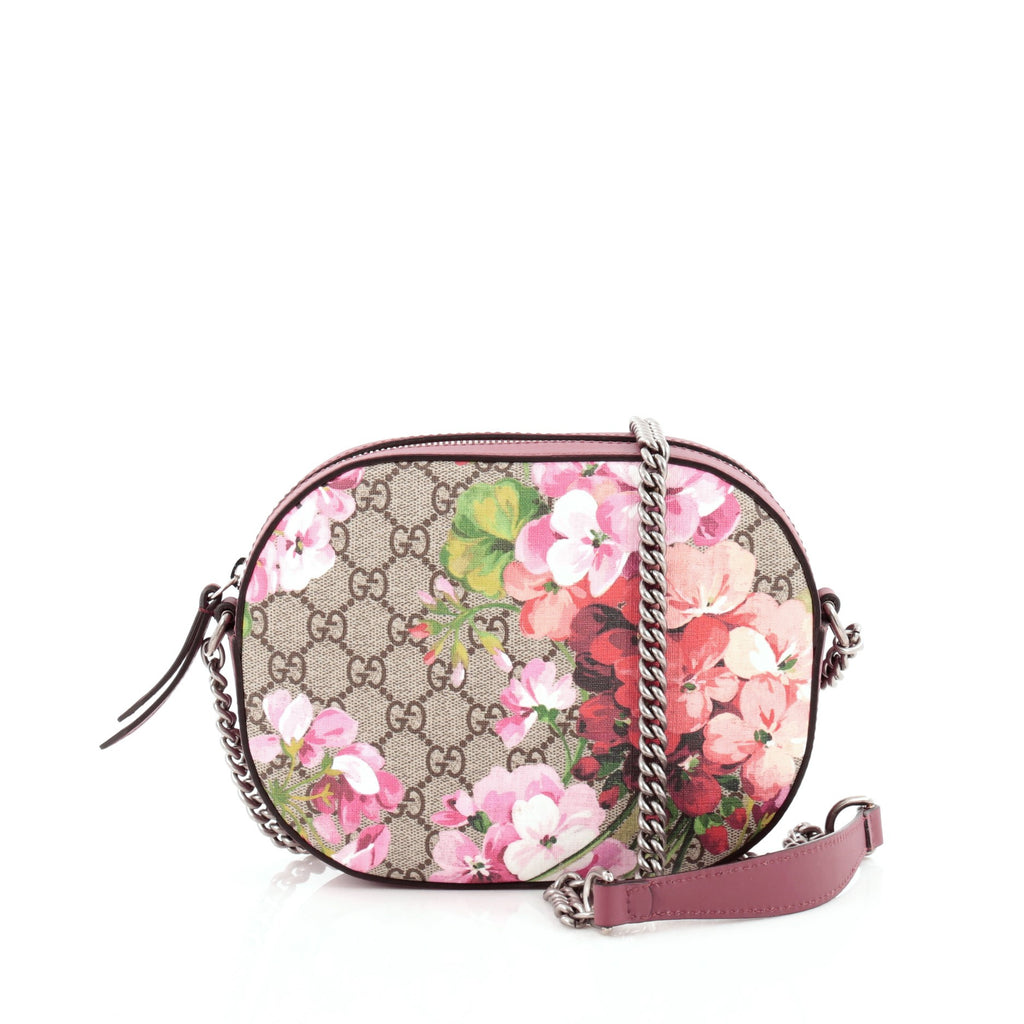 2fe5ca43155 Buy Gucci Chain Crossbody Bag Blooms Print GG Coated Canvas 1176301 ...