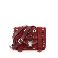Proenza Schouler PS1 Pouch Suede and Grommet Detail
