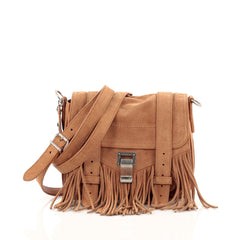 Proenza Schouler PS1 Pouch Suede Fringe Small