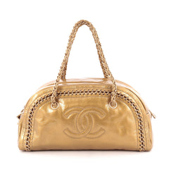 Chanel Luxe Ligne Bowler Bag Patent Medium