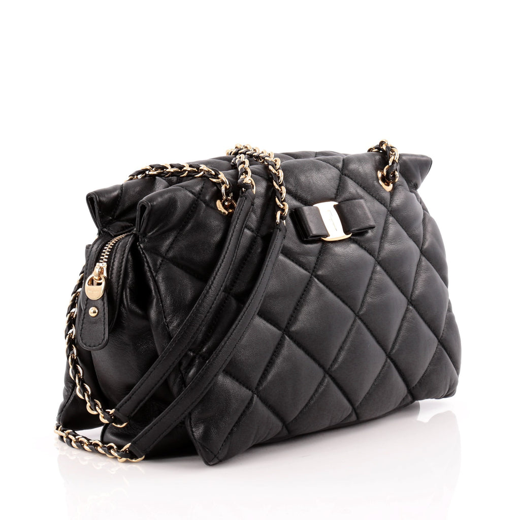 55c1d907cf Buy Salvatore Ferragamo Ginette Chain Shoulder Bag Quilted 1190002 ...