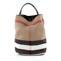 Burberry Ashby Handbag House Check Canvas Medium