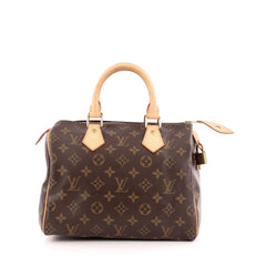 Louis Vuitton Speedy Handbag Monogram Canvas 25