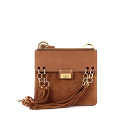 Chloe Jane Crossbody Bag Leather and Suede Small