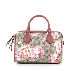 Gucci Convertible Boston Bag Blooms Print GG Coated Canvas Small