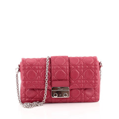 Christian Dior New Lock Pouch Cannage Quilt Lambskin Mini