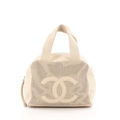 Chanel CC Bowler Bag Perforated Leather Medium