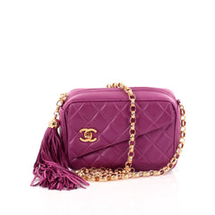 Chanel Vintage Front Pocket Camera Bag Quilted Lambskin Small