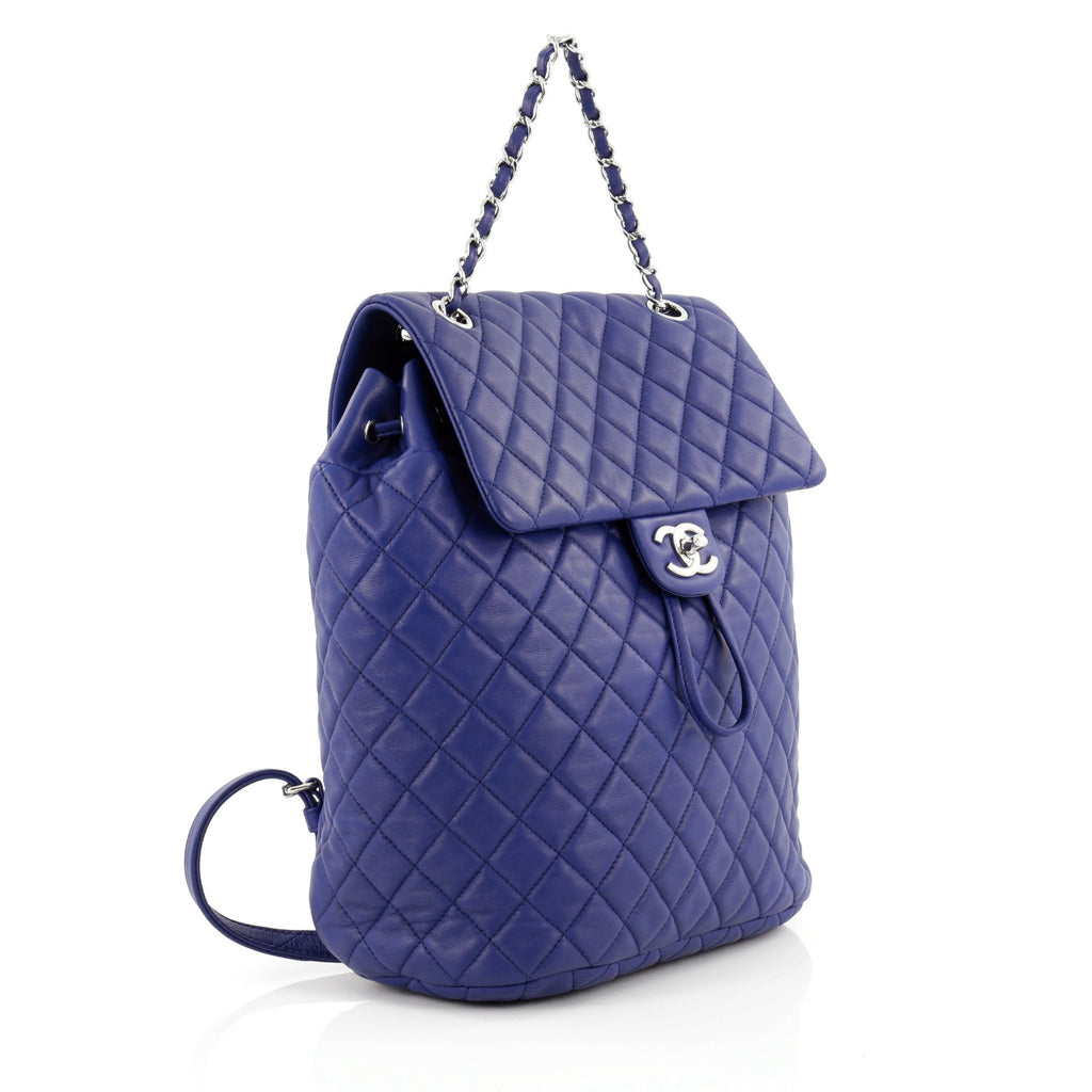 fa360e675883 Buy Chanel Urban Spirit Backpack Quilted Lambskin Large Blue 1221601 ...