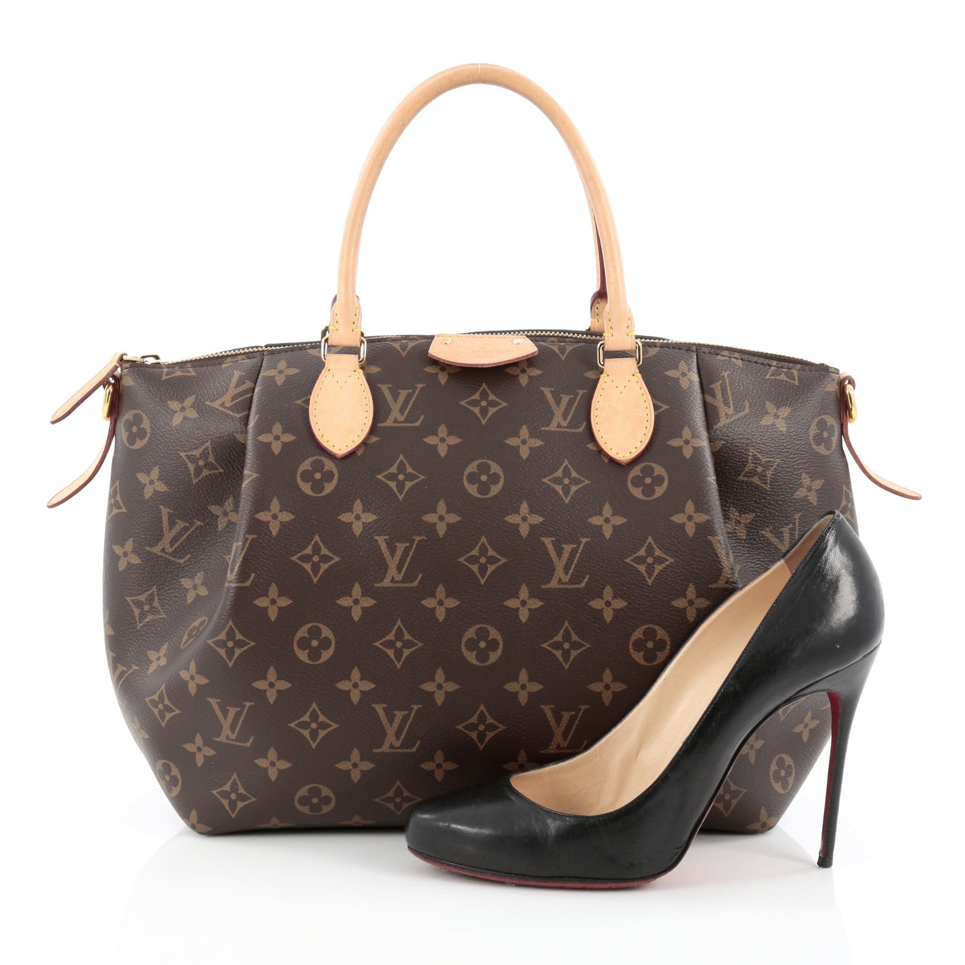 498ccd109aeb Buy Louis Vuitton Turenne Handbag Monogram Canvas MM Brown 1229101 –  Trendlee