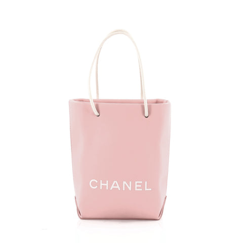 1072bdb8d990 Buy Chanel Essential Shopping Tote Leather Small Pink 1232601 – Rebag