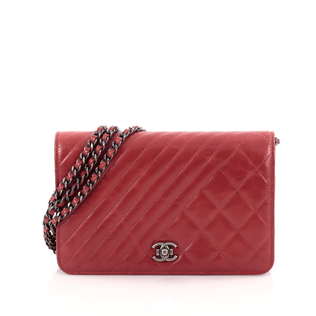 Buy Chanel Coco Boy Wallet on Chain Quilted Lambskin Red 1233201 – Rebag ab1cf32db6430