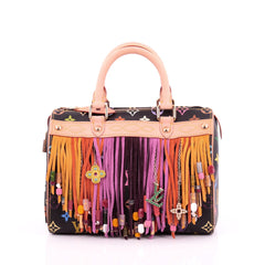 Louis Vuitton Speedy Handbag Limited Edition Multicolor Fringe 25