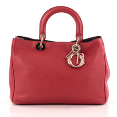 Christian Dior Diorissimo Tote Pebbled Leather Medium