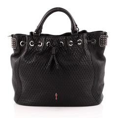 Christian Louboutin Dompteuse Bucket Bag Quilted Leather Large
