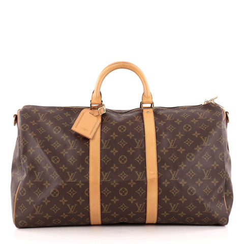 ad51eaf281349 Buy Louis Vuitton Keepall Bandouliere Bag Monogram Canvas 50 1246001 – Rebag