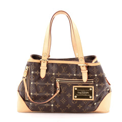 Louis Vuitton Riveting Handbag Monogram Canvas