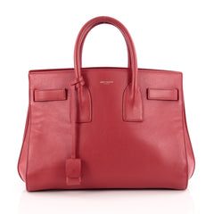 Saint Laurent Sac De Jour Handbag Leather Small