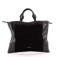 Burberry Big Crush Tote Nubuck and Leather Large