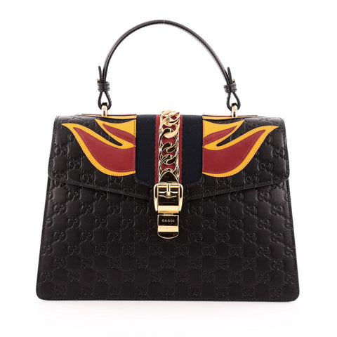 8f5569a20cac13 Buy Gucci Sylvie Top Handle Bag Guccissima Leather with 1262801 – Rebag