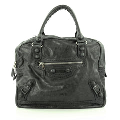 Balenciaga Office Covered Giant Brogues Handbag Leather