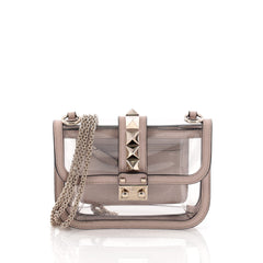 Valentino Glam Lock Shoulder Bag PVC Small