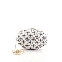 Judith Leiber Egg Minaudiere Crystal and Pearl Small