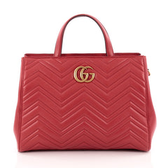 Gucci GG Marmont Tote Matelasse Leather Medium