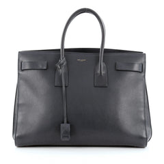 Saint Laurent Sac De Jour Handbag Leather Large