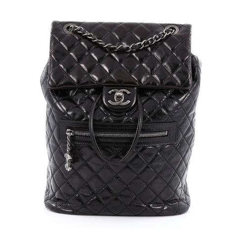 Buy Chanel Mountain Backpack Quilted Glazed Calfskin Large 1295402 – Rebag eb5687befa