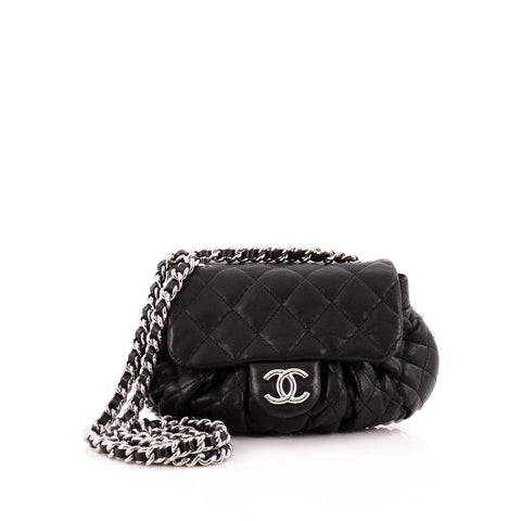 b07d2aa2e53 Buy Chanel Chain Around Flap Bag Quilted Leather Small Black 1302501 – Rebag