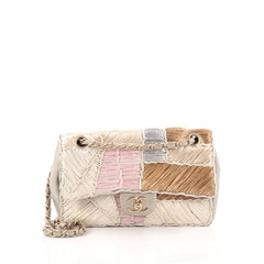 Chanel Classic Flap Bag Raffia Patchwork Medium