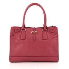 Salvatore Ferragamo Briana Tote Saffiano Leather Small