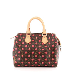 Louis Vuitton Speedy Handbag Limited Edition Cerises 25