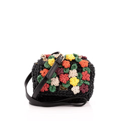 Dolce & Gabbana Miss Kate Crossbody Bag Embellished Raffia Mini