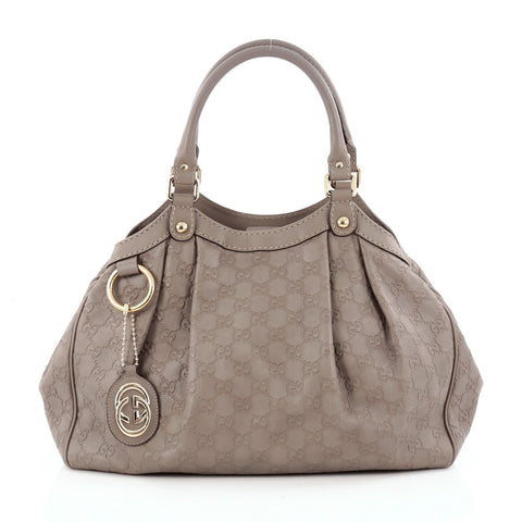 bcb817b21d00 Buy Gucci Sukey Tote Guccissima Leather Medium Gray 1316401 – Rebag