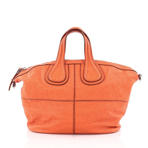 c9b3d1f4759a Buy Givenchy Nightingale Crossbody Bag Leather Micro Orange 1317901 – Rebag