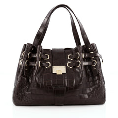 Jimmy Choo Ramona Hobo Crocodile