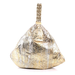 Chanel Rock and Chain Hobo Python Large Gold