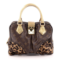 Louis Vuitton Adele Handbag Limited Edition Monogram Canvas and Calf Hair