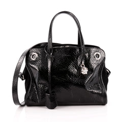 Alexander McQueen Eyelet Padlock Tote Patent Small