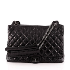 Chanel Accordion Reissue Flap Bag Quilted Calfskin XL