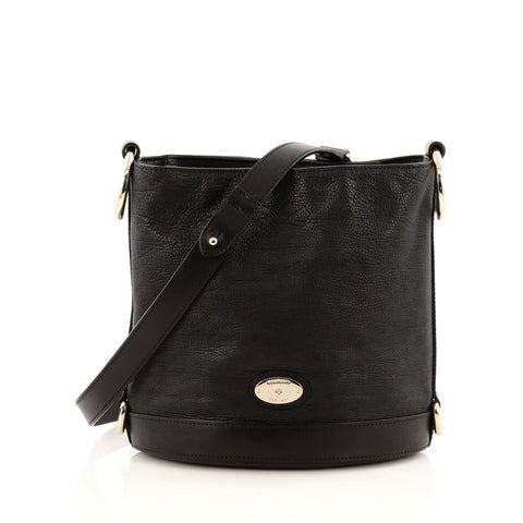 6914cc90c4 Buy Mulberry Jamie Bucket Bag Leather Small Black 1344701 – Rebag