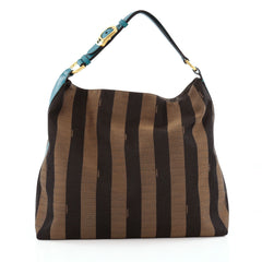 Fendi Pequin Hobo Canvas