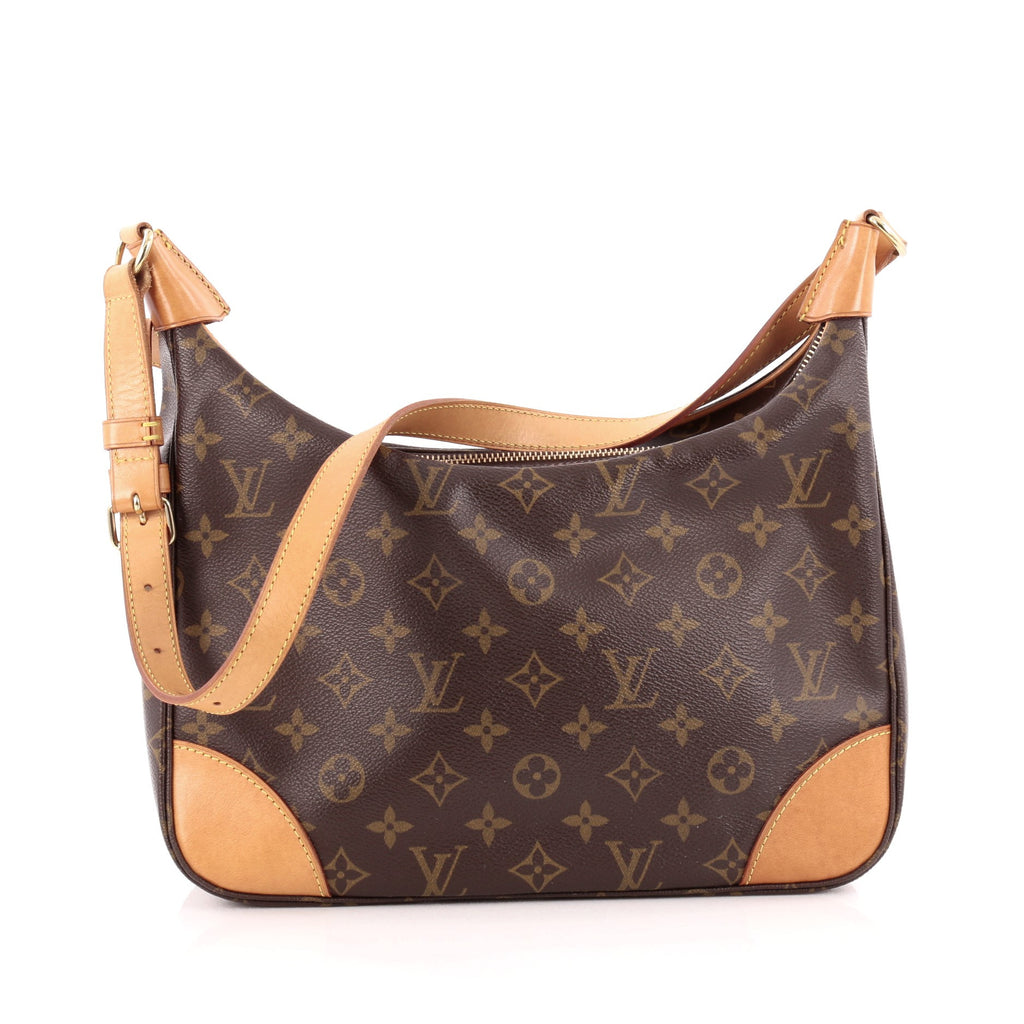 Buy Louis Vuitton Boulogne Handbag Monogram Canvas 30 Brown 1347001 ... 0d66b4f53ce8e