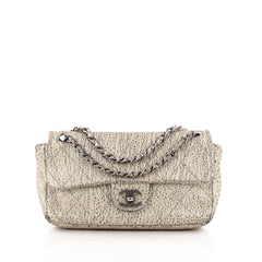 Chanel Le Marais Classic Flap Bag Quilted Distressed Metallic Leather Small