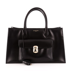 Balenciaga Padlock All Time Work Tote Leather